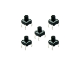 tact switch, 6mm, pack of 5